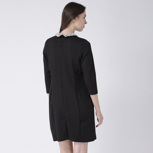 Black Dress With Peter Pan Collar