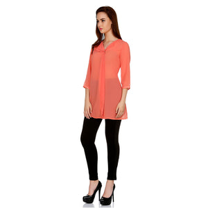 Pink Solid Tunic
