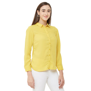 Yellow Solid Shirt