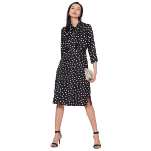 109F Black Polka Dot Dress