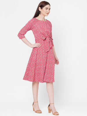 Rust Polka Dot Dress