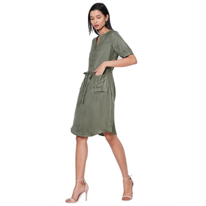 109F Green Dress With Face Mask