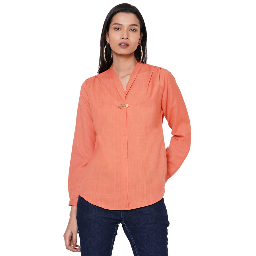 109F Peach Solid Top