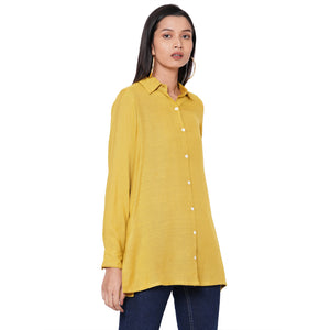 109F Yellow Soild Shirt