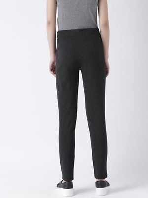Grey Straight Fit Jeggings-8907540189566