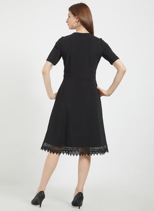 Black Dress With Lace Detaling