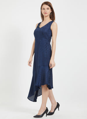 Navy High Low Dress