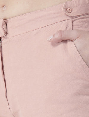 Blush Casual Shorts