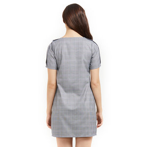Grey Checkered Dress