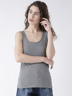 Grey Basic Solid T-Shirt
