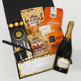 Celebrate Good Times Champagne & Room Diffuser House warming gift basket presented in a modern gift box.