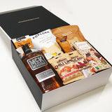 Gluten Free & Dairy Free Gift Hamper with McKenna Bourbon, Chocolate & Nuts & Popcorn.