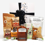 Gluten Free & Dairy Free Gift Hamper with Gentlemen Jack Whisky, Chocolate & Nuts & Popcorn.