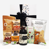 Gluten Free & Dairy Free Gift Hamper with Kraken Spiced Rum, Chocolate & Nuts & Popcorn.