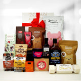 Gluten & Dairy Free Xmas Gift Hamper with chocolate, cookies, ham glaze, fig balsamic and more.