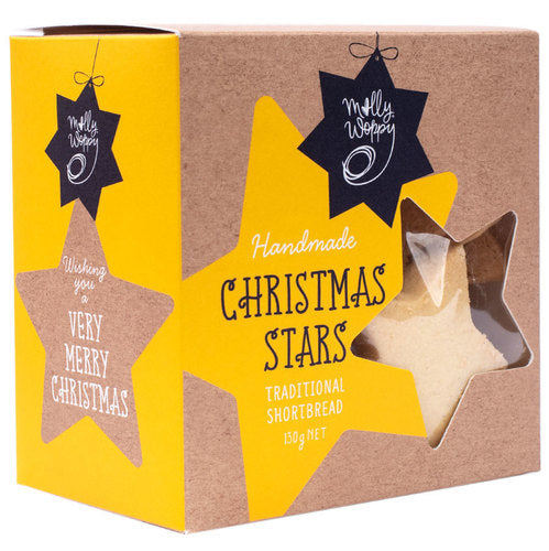 Molly Woppy Festive Shortbread Stars 130g