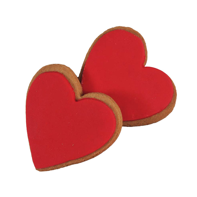 Molly Woppy Red Iced Gingerbread Hearts 2pack