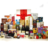Christmas fit for a king extra large corporate gift hamper with champagne, cheese, condiments and lots of gourmet treats.