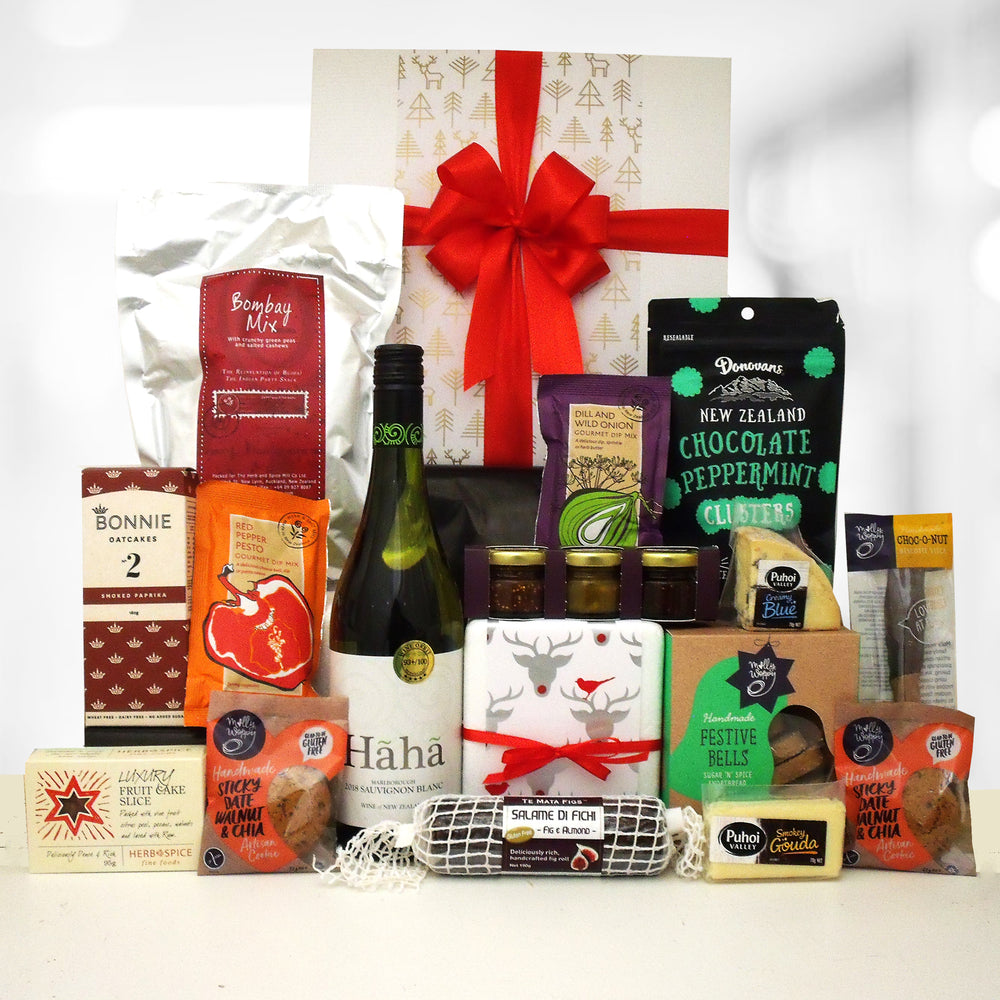 Dashin Dancin & Prancin- Wine, Cheese & Chocolate Gift Box