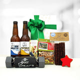 Merry Beer-mas, Xmas themed gift hamper with craft beer, venison salami & beer infused gummy bears.