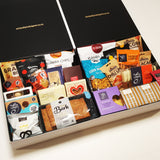 Morish gift box. Large corporate non alcoholic gift hamper with cookies, chocolate, mouse, popcorn, granola & more.