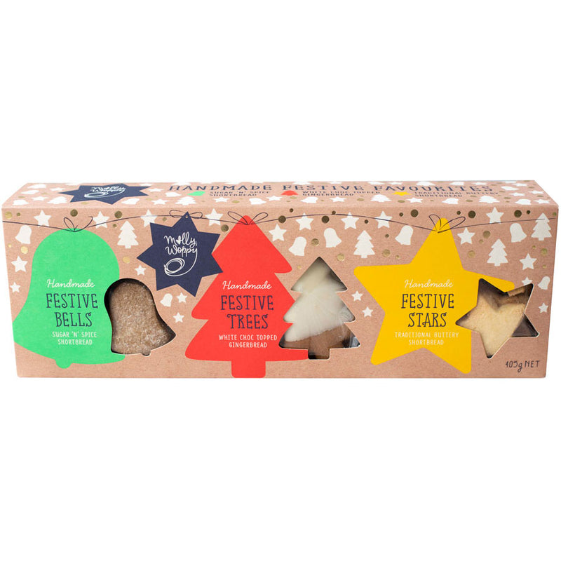 Molly Woppy Festive Trio of Cookies 405g