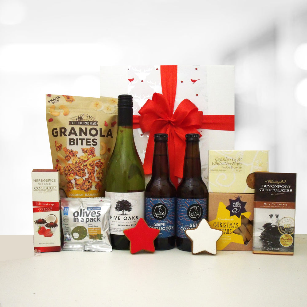 Prancers Potions- Beer & Wine Xmas Gift Hamper for him & her.
