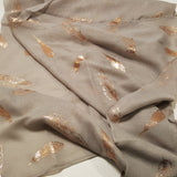 Light Grey with rose gold feathers Scarf options for gift hamper.