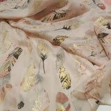 Beige with multi coloured feathers Scarf options for gift hamper.