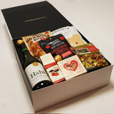 smiles for miles wine and snacks gift box.