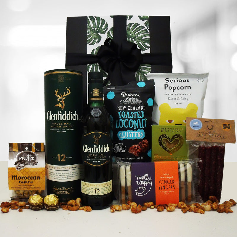 Whisky Temptations Gift Box- Whisky, Venison Salami & Treats For Him