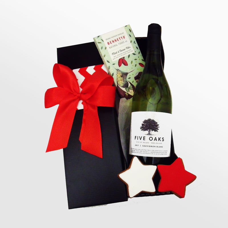 Sleigh Snacks- Wine & Chocolate Xmas Box