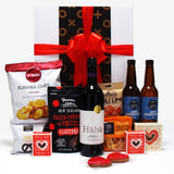Valentines Day Gift Hamper for Him & Her with Beer, Wine & Nibbles.