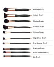 Load image into Gallery viewer, 10 pcs cosmetic makeup brush set