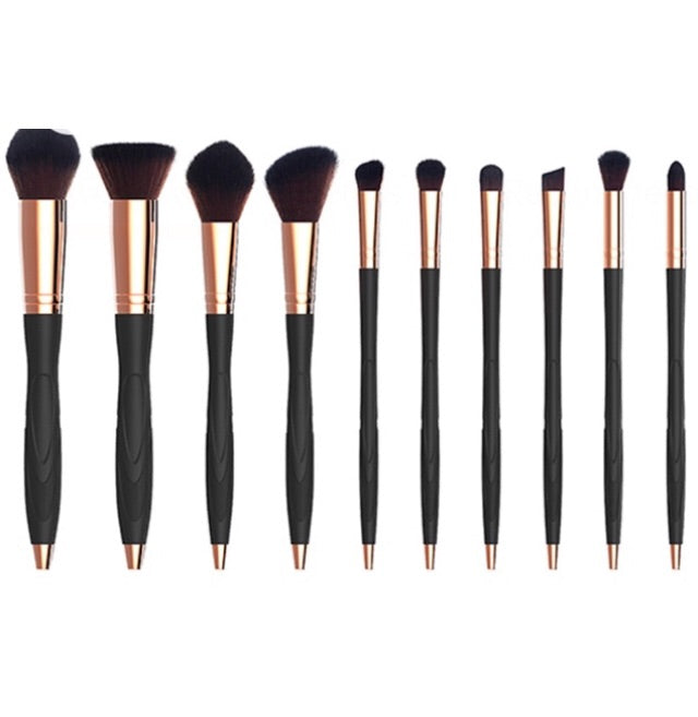 10 pcs cosmetic makeup brush set