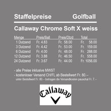 Callaway Chrome Soft X weiss
