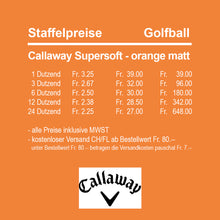Callaway Supersoft orange matt