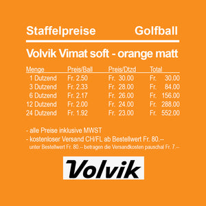 Volvik Vimat soft orange matt