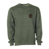 Crew Neck Embroidered Sweatshirt - Army Heather