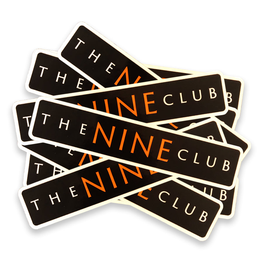 Sticker Pack - Nine Club Bar Logo