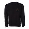 Crew Neck Embroidered Sweatshirt - Black