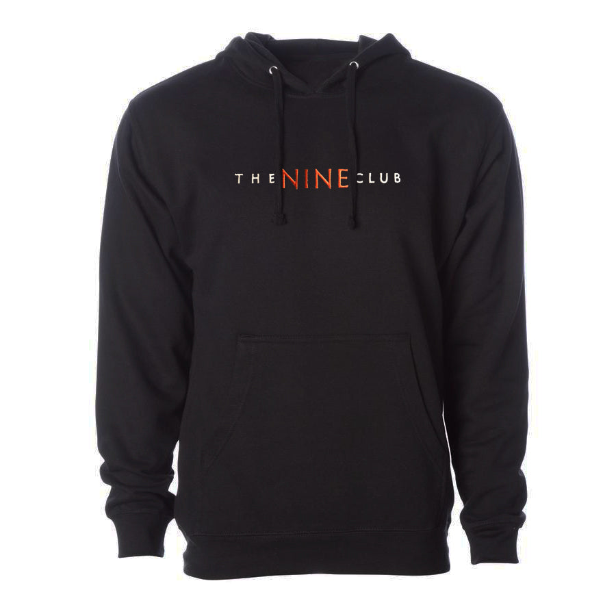 Nine Club Embroidered Hoodie - Black