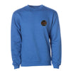Crew Neck Embroidered Sweatshirt - Royal Blue Heather