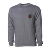 Crew Neck Embroidered Sweatshirt - Gunmetal Heather