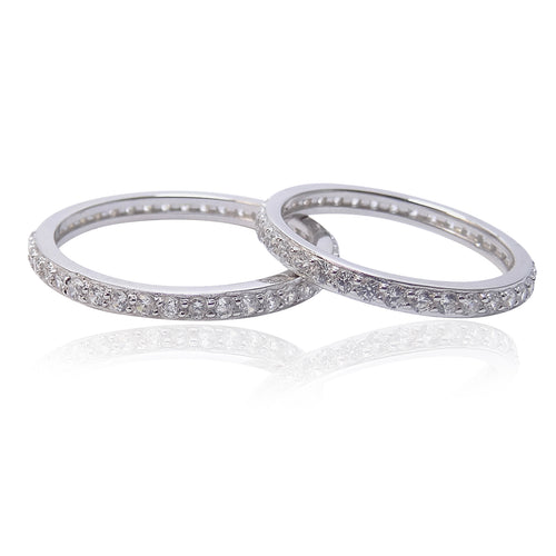 The 2mm Silver 'Diamond' Eternity Band