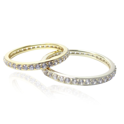 The 2mm Gold 'Diamond' Eternity Band
