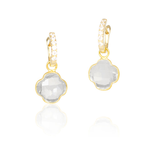 The Crystal Clover Detachable Earrings