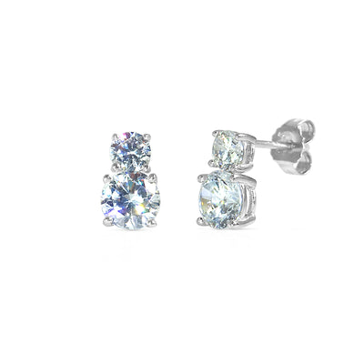 The 'Double Diamond' Studs