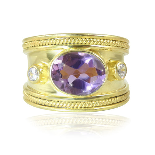 The Fabulous Purple Amethyst Guinevere Ring