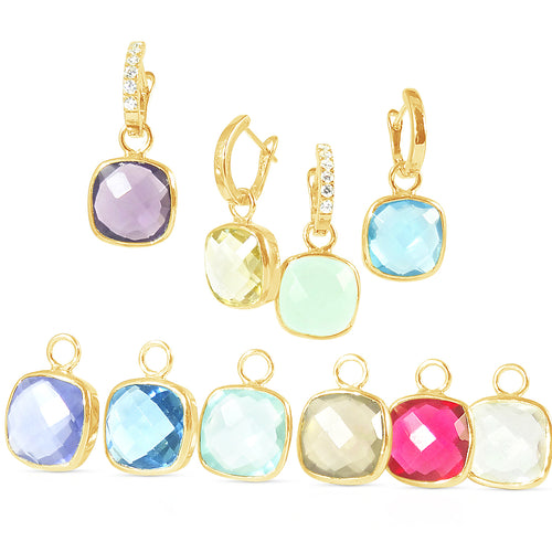 The Heavenly Cushion Cut Detachables - GOLD, were £45 now £35!